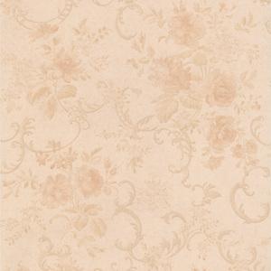 Highbury Peach Floral Scroll Wallpaper 990-65051