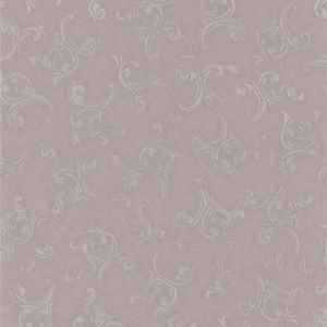 Highgate Mauve Embroidered Scroll Wallpaper 990-65053