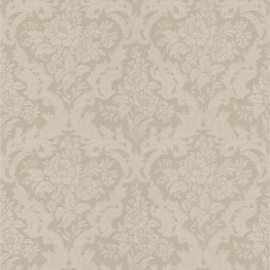 Cotswold Taupe Floral Damask Wallpaper 990-65062