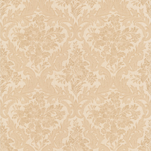 Cotswold Peach Floral Damask Wallpaper 990-65064