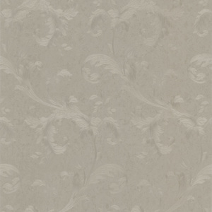Isleworth Silver Floral Scroll Wallpaper 990-65094