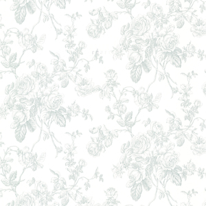 Louisa Teal Rose Trail Wallpaper 2668-21500