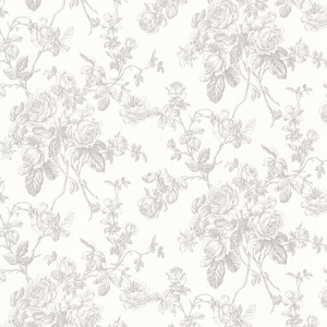 Louisa Grey Rose Trail Wallpaper 2668-21502