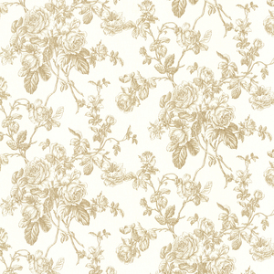 Louisa Gold Rose Trail Wallpaper 2668-21504