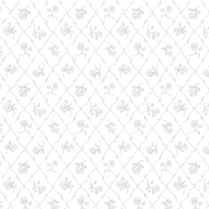 Marianne Teal Rose Trellis Wallpaper 2668-21505