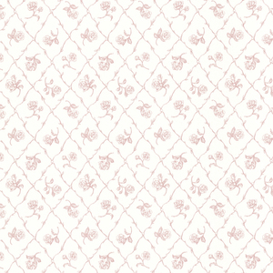 Marianne Rose Rose Trellis Wallpaper 2668-21506