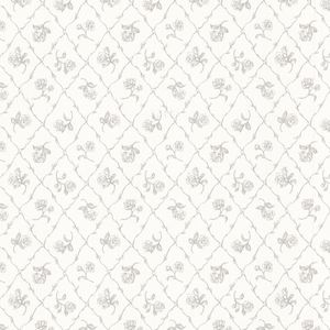 Marianne Grey Rose Trellis Wallpaper 2668-21507