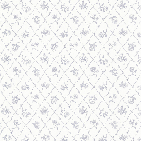 Marianne Blue Rose Trellis Wallpaper 2668-21508