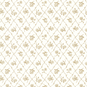 Marianne Gold Rose Trellis Wallpaper 2668-21509