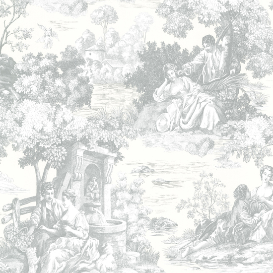 Isabella Teal Toile Wallpaper 2668-21510