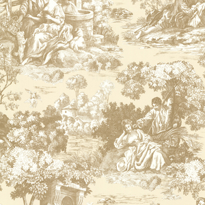Isabella Gold Toile Wallpaper 2668-21514