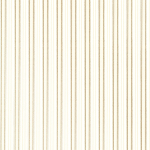 Anne Gold Ticking Stripe Wallpaper 2668-21519
