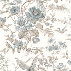 Elizabeth Teal Wildflower Trail Wallpaper 2668-21530