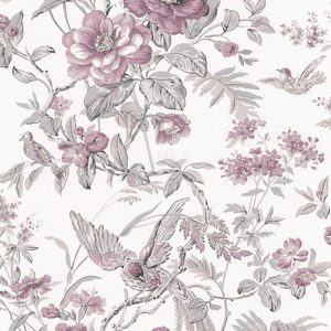 Elizabeth Purple Wildflower Trail Wallpaper 2668-21533