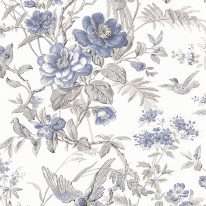 Elizabeth Blue Wildflower Trail Wallpaper 2668-21534