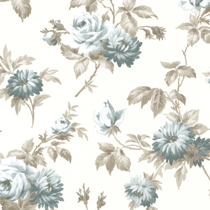 Charlotte Pink Vintage Rose Toss Wallpaper 2668-21541