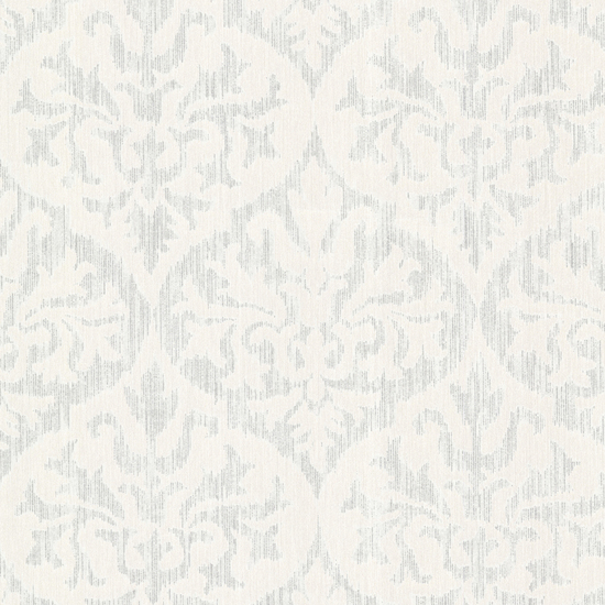Sumatra Silver Ikat Damask Wallpaper 2542-20701
