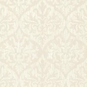Sumatra Champagne Ikat Damask Wallpaper 2542-20702
