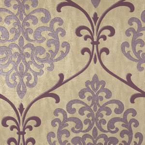 Ambrosia Mauve Glitter Damask Wallpaper 2542-20713