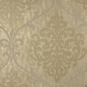 Ambrosia Brass Glitter Damask Wallpaper 2542-20714