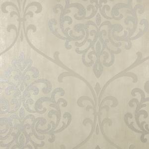Ambrosia Taupe Glitter Damask Wallpaper 2542-20716