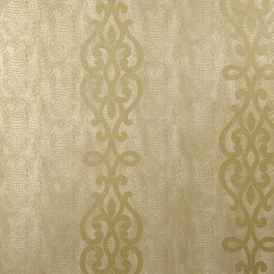 Anaconda Brass Glitter Stripe Wallpaper 2542-20720