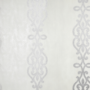 Anaconda Silver Glitter Stripe Wallpaper 2542-20722