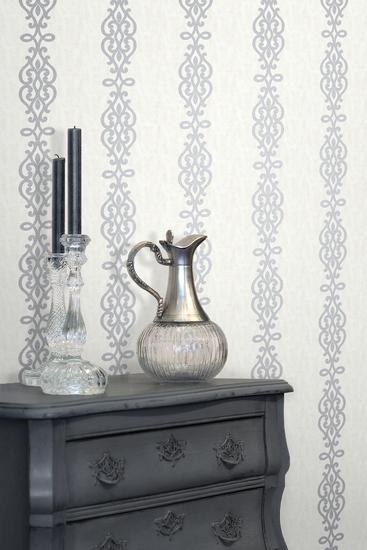 Anaconda Silver Glitter Stripe Wallpaper 2542-20722