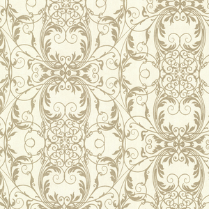 Tianna Gold Ironwork Scroll Wallpaper 2542-20727