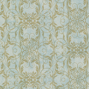 Tianna Turquoise Ironwork Scroll Wallpaper 2542-20728