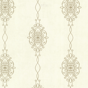 Alvina Gold Ironwork Stripe Wallpaper 2542-20732