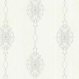 Alvina Platinum Ironwork Stripe Wallpaper 2542-20733