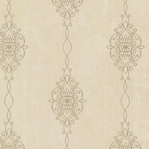 Alvina Brass Ironwork Stripe Wallpaper 2542-20734