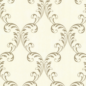 Quill Gold Ironwork Leaf Wallpaper 2542-20735