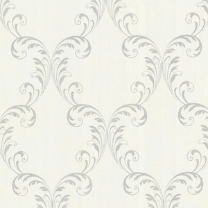 Quill Platinum Ironwork Leaf Wallpaper 2542-20736