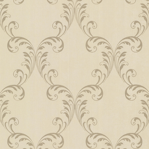 Quill Brass Ironwork Leaf Wallpaper 2542-20737