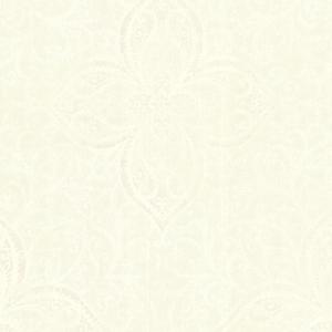 Oberon Champagne Moroccan Medallion Wallpaper 2542-20741