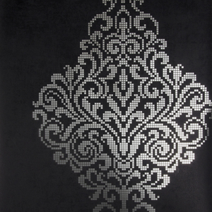 Lux Charcoal Foil Damask Wallpaper 2542-20747