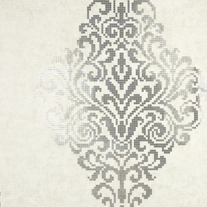 Lux Silver Foil Damask Wallpaper 2542-20749
