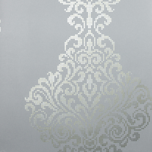 Lux Pewter Metallic Damask Wallpaper 2542-20750