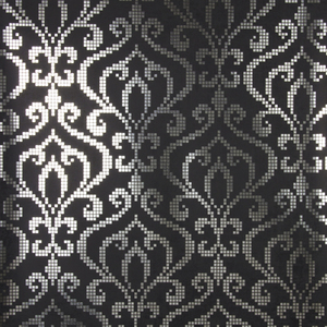 Venus Charcoal Foil Mini Damask Wallpaper 2542-20752