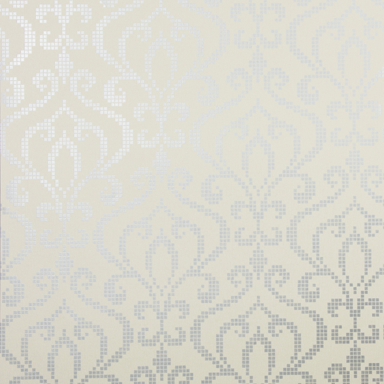 Venus Pewter Metallic Mini Damask Wallpaper 2542-20755