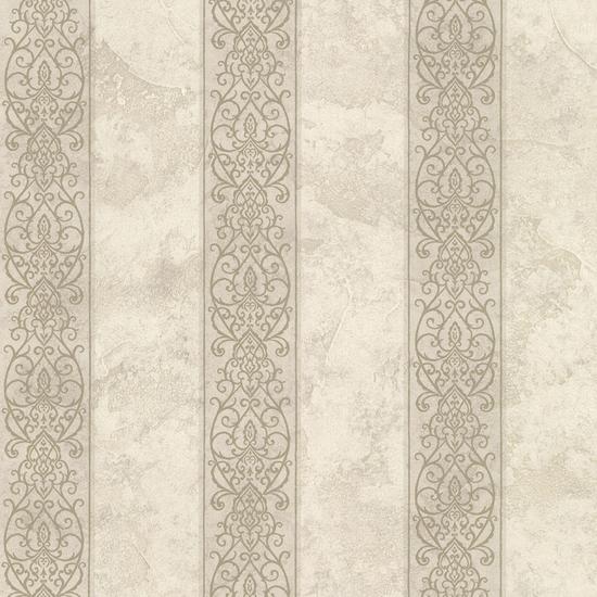 Presque Isle Fog Regal Stripe Wallpaper SRC01756