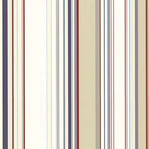 Cape Elizabeth Red Lookout Stripe Wallpaper SRC58516