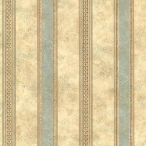 Castine Aqua Tuscan Stripe Wallpaper SRC76191