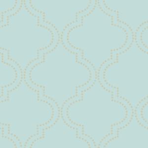 Tetra Turquoise Quatrefoil Wallpaper 2625-21802