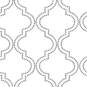 Tetra Black Quatrefoil Wallpaper 2625-21804