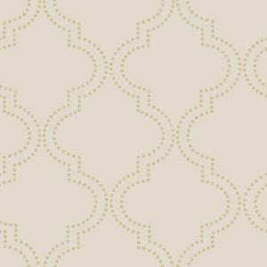 Tetra Beige Quatrefoil Wallpaper 2625-21805