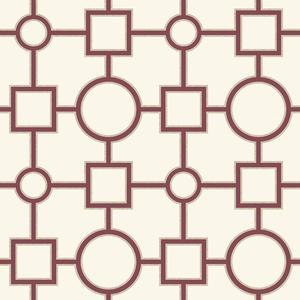 Matrix Burgundy Geometric Wallpaper 2625-21807