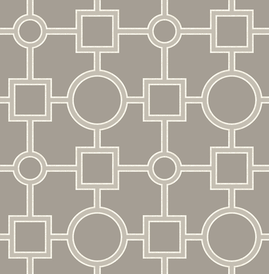 Matrix Taupe Geometric Wallpaper 2625-21810
